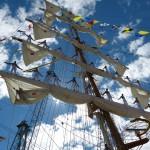 Laivamiehet mastossa