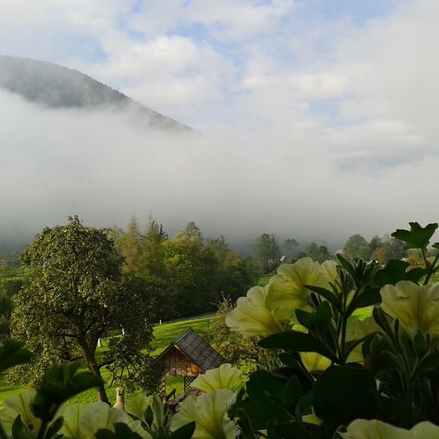 Aamu-usvaa Bohinjin seuduilla