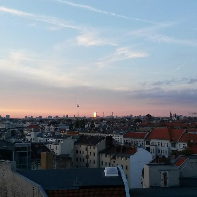 Auringonlasku Berliinissä