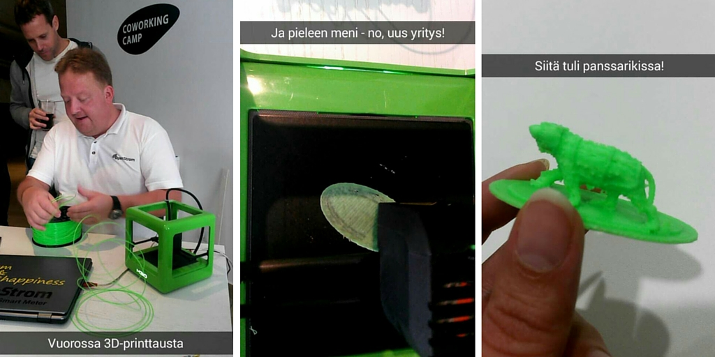 3D printtausta Coworking Campilla