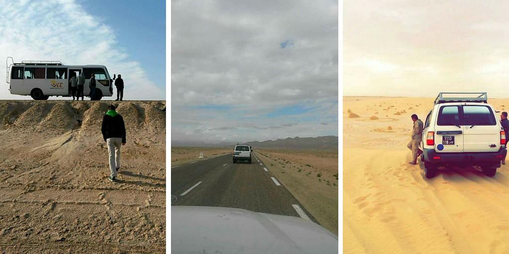 Ajoneuvoja aavikkoretkellä