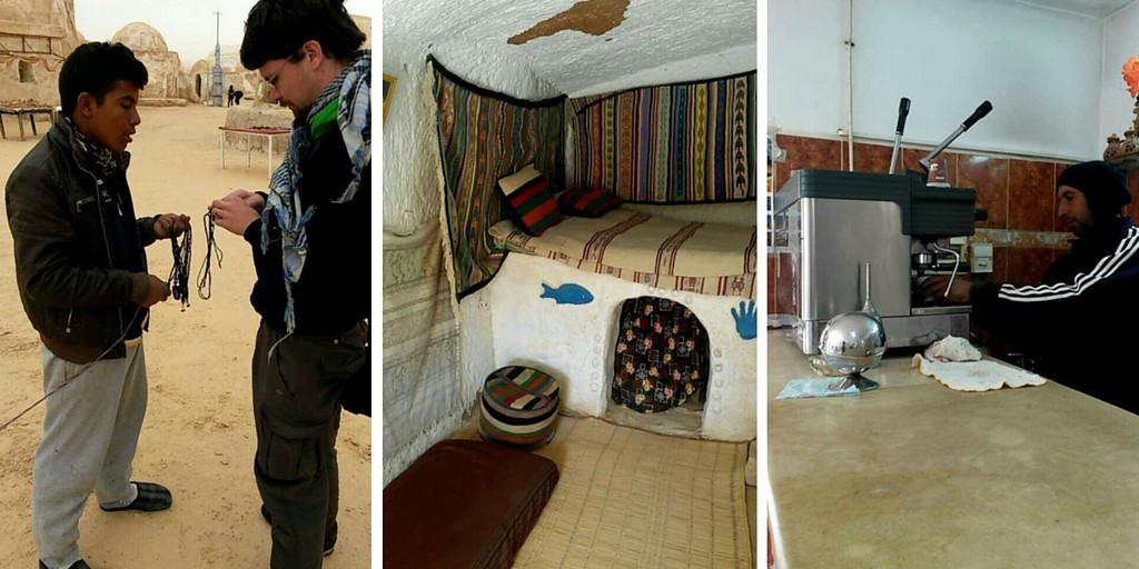 Paikallisia ihmisiä ja koteja Tunisiassa