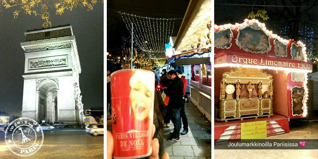 Joulumarkkinoilla Pariisissa