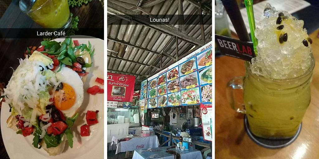 Herkkuruokia Thaimaassa