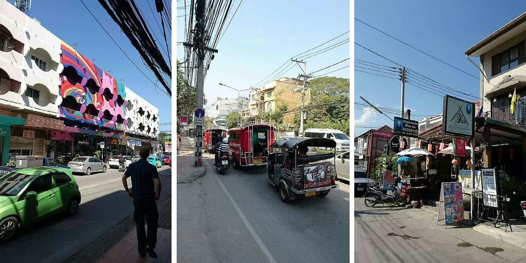 Katunäkymiä Chiang Maissa