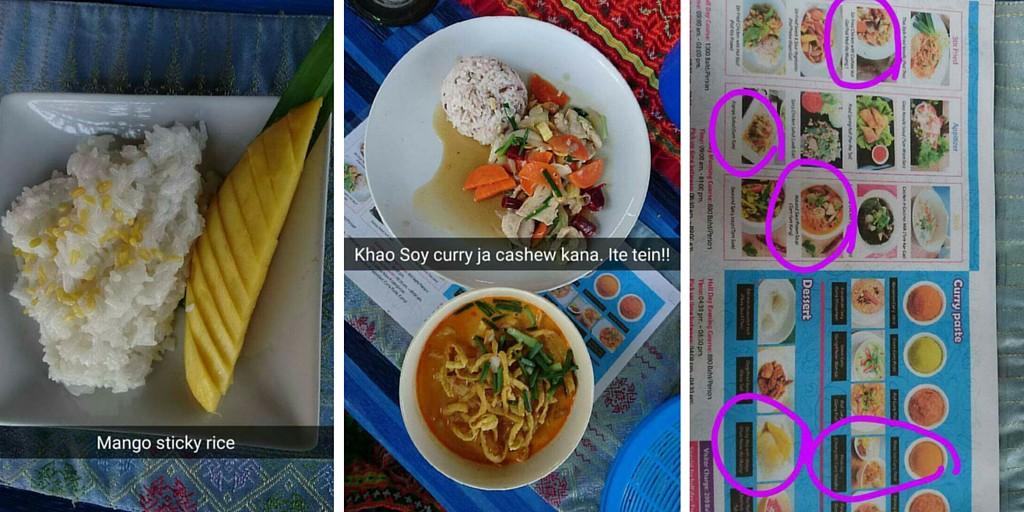 Thai-kokkauskurssin tulokset