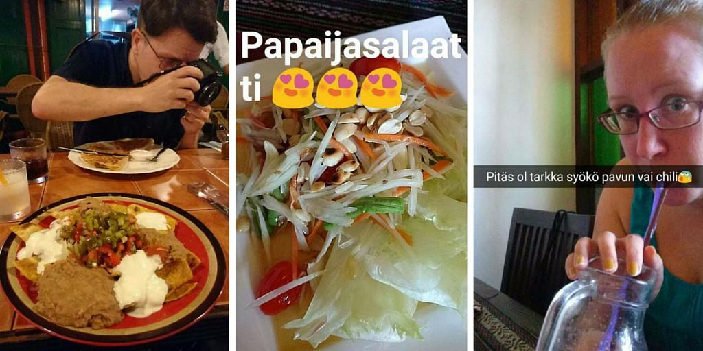 Ruokakokemuksia Chiang Maissa
