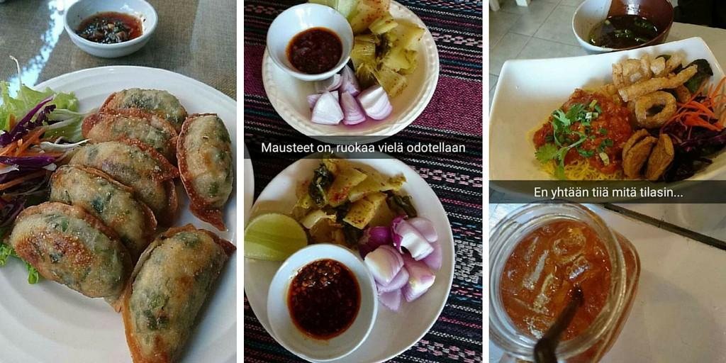 Chiang Main ruokia