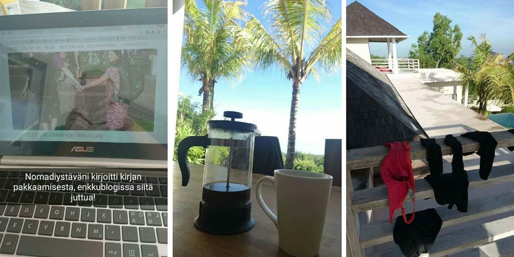 Työntekoa Balilla