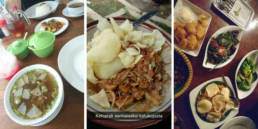 Herkkuruokia Indonesiassa