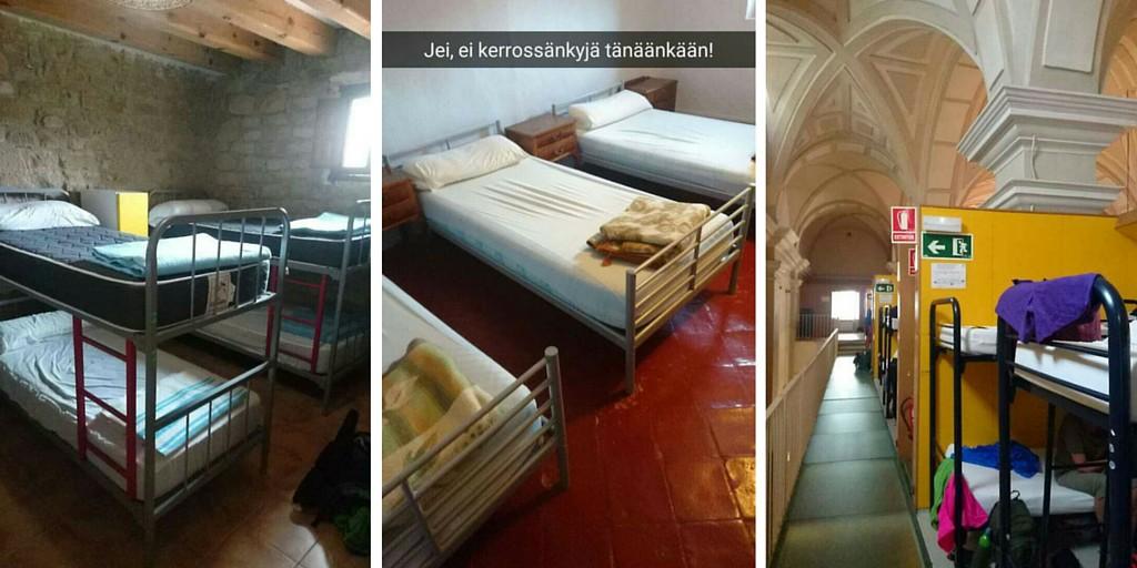 Sänkyjä Caminon Albergueissa